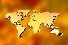 Bakgrundsvärldskarta 3D Royaltyfria Foton