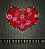 Bakgrundsvalentindag med en hjärta stock illustrationer