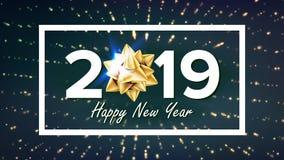 2019 bakgrundsvektor för lyckligt nytt år Mall för hälsningkortdesign glad jul illustration royaltyfri illustrationer