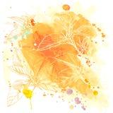 bakgrundsvektorvattenfärg Royaltyfria Bilder