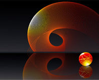 bakgrundsvirvel vektor illustrationer