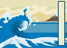 bakgrundswave stock illustrationer