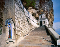 Bakhchisarai老岩石Uspensky修道院 库存照片
