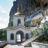 Bakhchisarai老岩石Uspensky修道院 库存图片