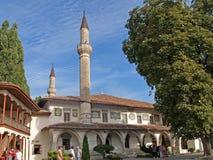 Bakhchisarai, Crimea Vista de la mezquita hansky grande imagen de archivo libre de regalías