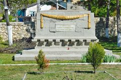 Bakhchisaray, Crimea, Russia, April, 28, 2017. Military fraternal cemetery during the Civil war in the city of Bakhchisaray. Bakhchisaray, Crimea, Russia royalty free stock images