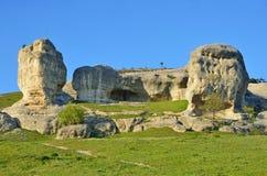 Bakhchisaray Szczególnie ochraniający naturalnego terytorium ` Naturalni sfinksy dolina Su w dobrej pogodzie zdjęcie royalty free