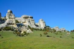 Bakhchisaray Szczególnie ochraniający naturalnego terytorium ` Naturalni sfinksy dolina Su w dobrej pogodzie zdjęcia royalty free