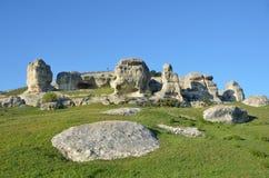 Bakhchisaray Szczególnie ochraniający naturalnego terytorium ` Naturalni sfinksy dolina Su w wiośnie obraz royalty free