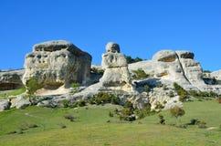 Bakhchisaray Szczególnie ochraniający naturalnego terytorium ` Naturalni sfinksy dolina Su w wiośnie fotografia royalty free