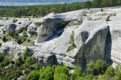 Bakhchisaray Szczególnie ochraniający naturalnego terytorium ` Naturalni sfinksy dolina Su w wiośnie fotografia stock