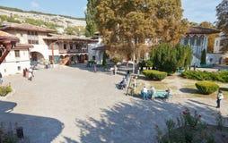 Bakhchysaray可汗的宫殿,克里米亚庭院  库存图片