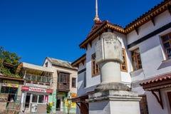 BAKHCHYSARAY KRIM - SEPTEMBER 2014: Khan'sens slott eller Hansaray är Bakhchysarai arkivbild