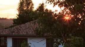 Bakhchysaray on sunset. Fragment. Crimea. stock image