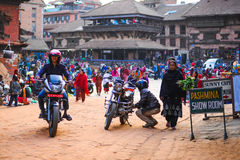Bakhtapur Nepal. One of the busy market Stock Image