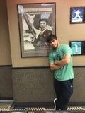 Bakhtyar Eyubov in Burger King op Coney Island Stock Afbeelding