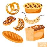 baking illustration stock