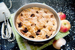 Baking apple pie Royalty Free Stock Photo