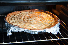 Baking apple tart Stock Image
