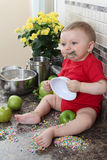 Baking baby Stock Images