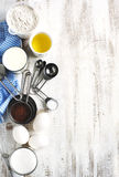 Baking background with ingredients for chocolate cake Royalty Free Stock Photography