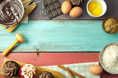 Baking background Stock Images