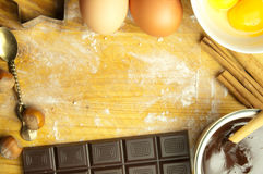 Baking background with space Stock Photo