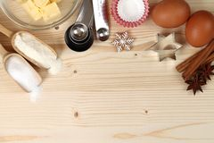 Baking background Royalty Free Stock Images