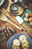 Baking Bakery Preparation Gourmet Recipe Concept Stock Image