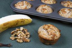 Baking Banana Nut Muffins Royalty Free Stock Photography