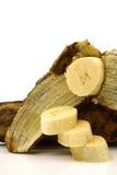 Baking banana pieces Royalty Free Stock Photo