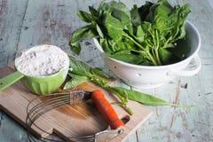 Baking with basil savory Stock Photos