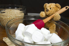 Baking Bear with Marshmallows and Puffed Rice Cere Royalty Free Stock Images