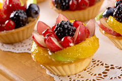 Baking with berries and fruits Royalty Free Stock Photography