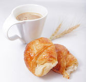 Baking biologically clean with a hot drink. On a white tablecloth Stock Photo