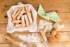 Baking biscuits Royalty Free Stock Photography