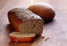 Baking black bread Royalty Free Stock Image