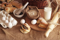 Baking of bread Royalty Free Stock Photography