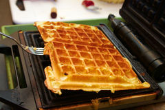 Baking Brussels Waffels - Serie -  2 of 5 Stock Images