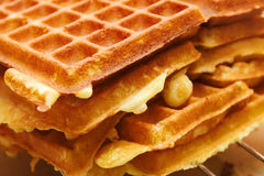 Baking Brussels Waffels - Serie -  3 of 5. Baking Brussels Waffles Take 3 Stock Images