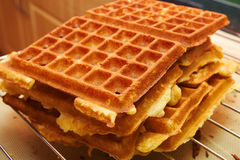 Baking Brussels Waffels - Serie -  4 of 5. Baking Brussels Waffles Take 4 Royalty Free Stock Photography