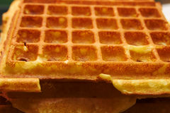 Baking Brussels Waffels - Serie - 5 of 5. Baking Brussels Waffles Take 5 stock photography