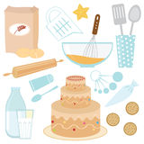 Baking a cake Stock Photos