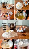 Baking cake ingredients Stock Photos