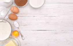 Baking cake ingredients . Background. Baking cake ingredients .The concept of cooking. Background Royalty Free Stock Photo