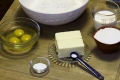 Baking a Cake Stock Photo