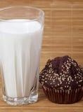 Baking cake and milk Stock Image