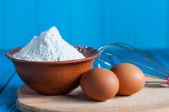 Baking cake in rural kitchen - dough recipe Royalty Free Stock Image