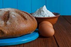 Baking cake in rural kitchen - dough recipe Royalty Free Stock Images