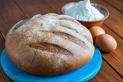 Baking cake in rural kitchen - dough recipe Royalty Free Stock Photo